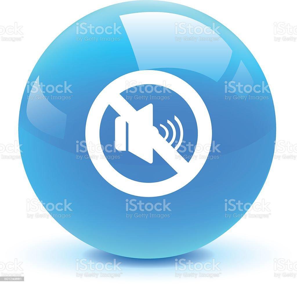 mute volume button vector art illustration