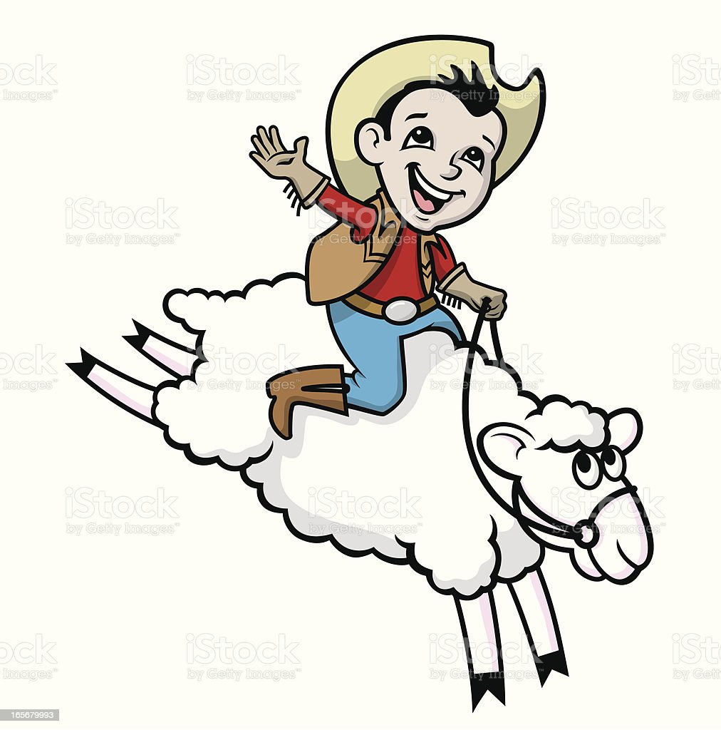 Mutton Bustin royalty-free stock vector art