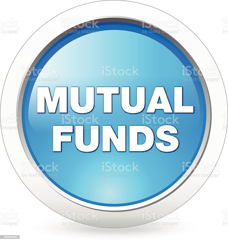Mutual Fund Button vector art illustration