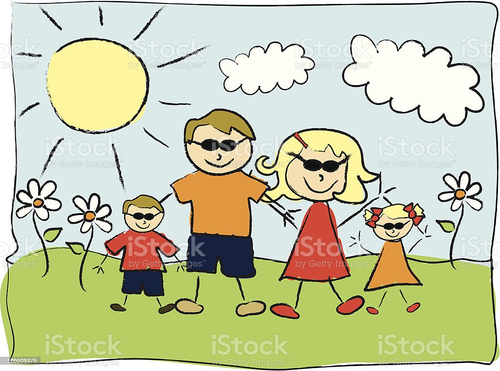 My Family royalty-free stock vector art