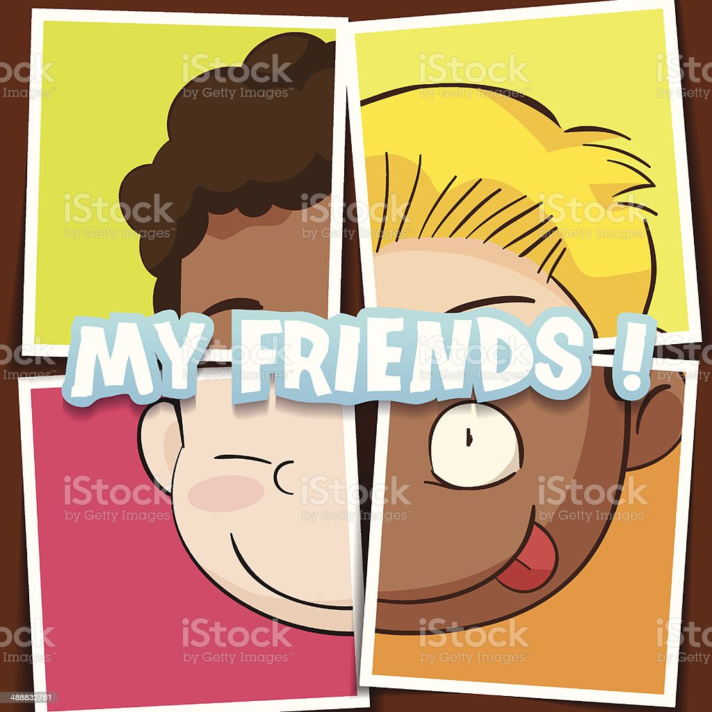 My friends royalty-free stock vector art