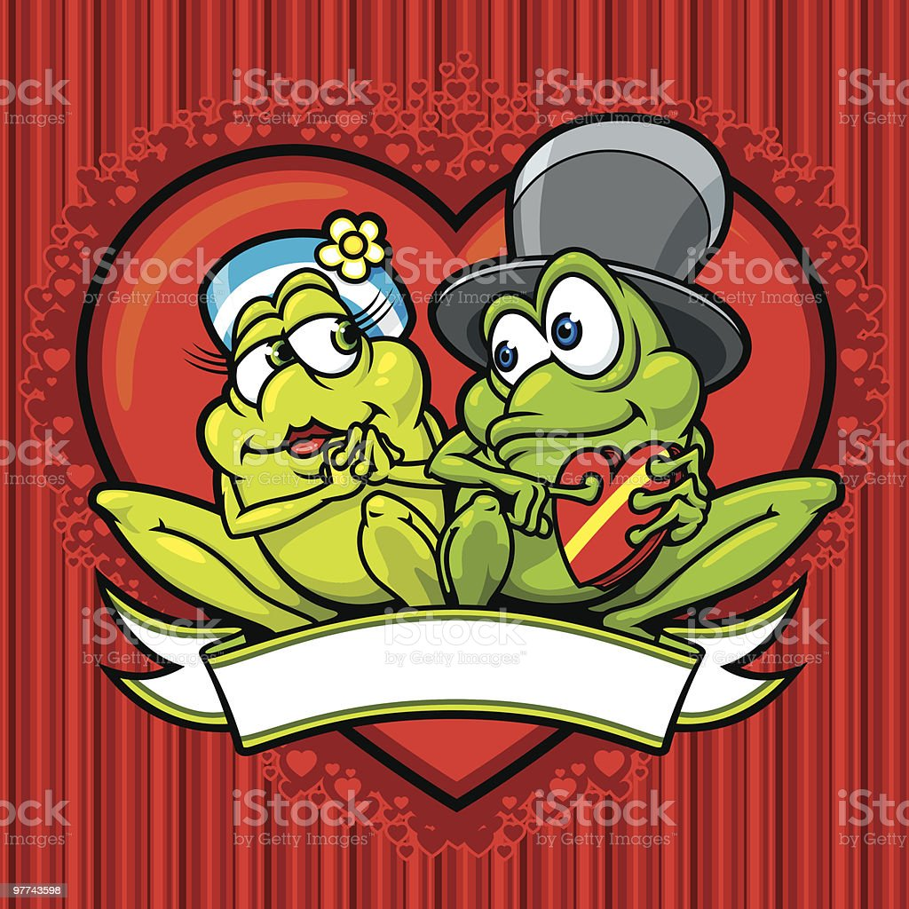 My Froggy Valentine vector art illustration