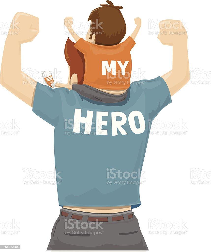 My Hero vector art illustration