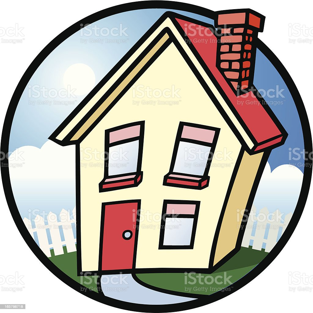 My Home vector art illustration