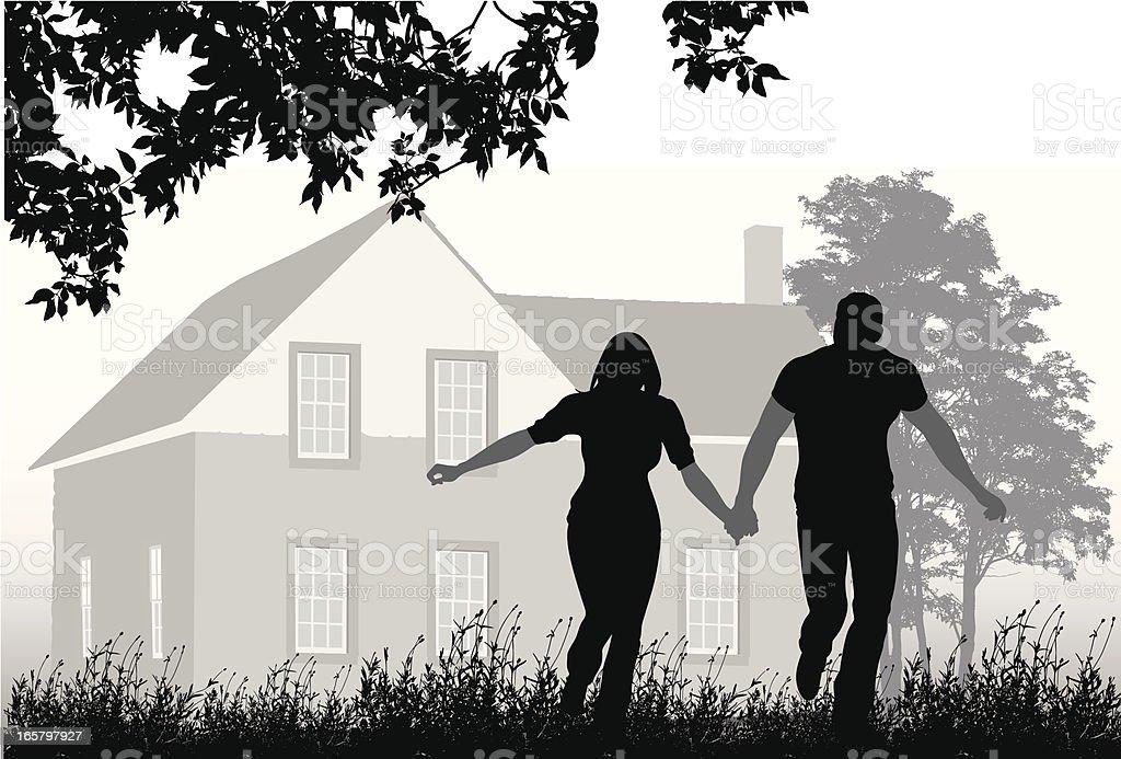 My Home Vector Silhouette vector art illustration
