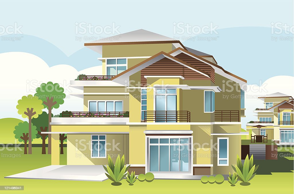 My Ideal Home vector art illustration