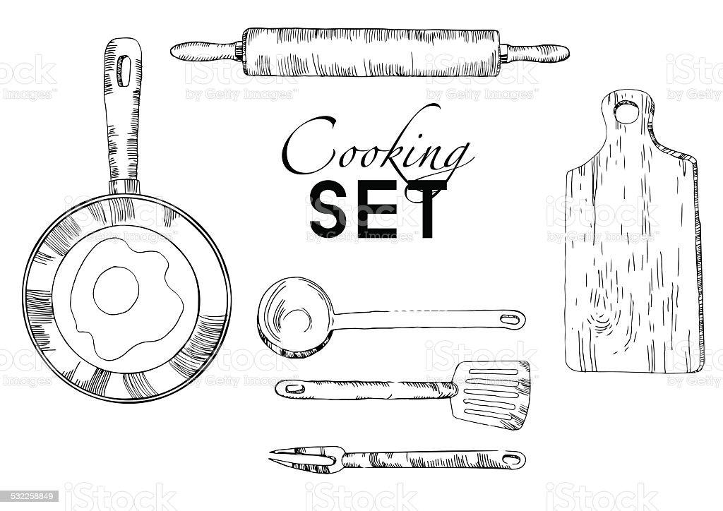 My kitchen graphics vector kitchen background vector art illustration