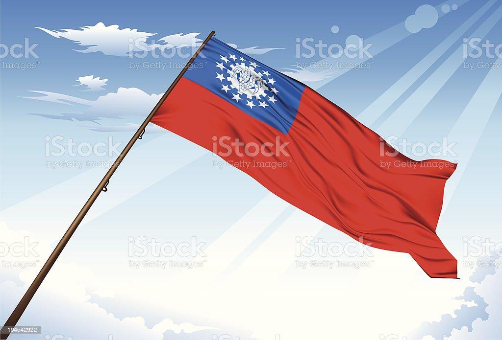 Myanmar Flag royalty-free stock vector art