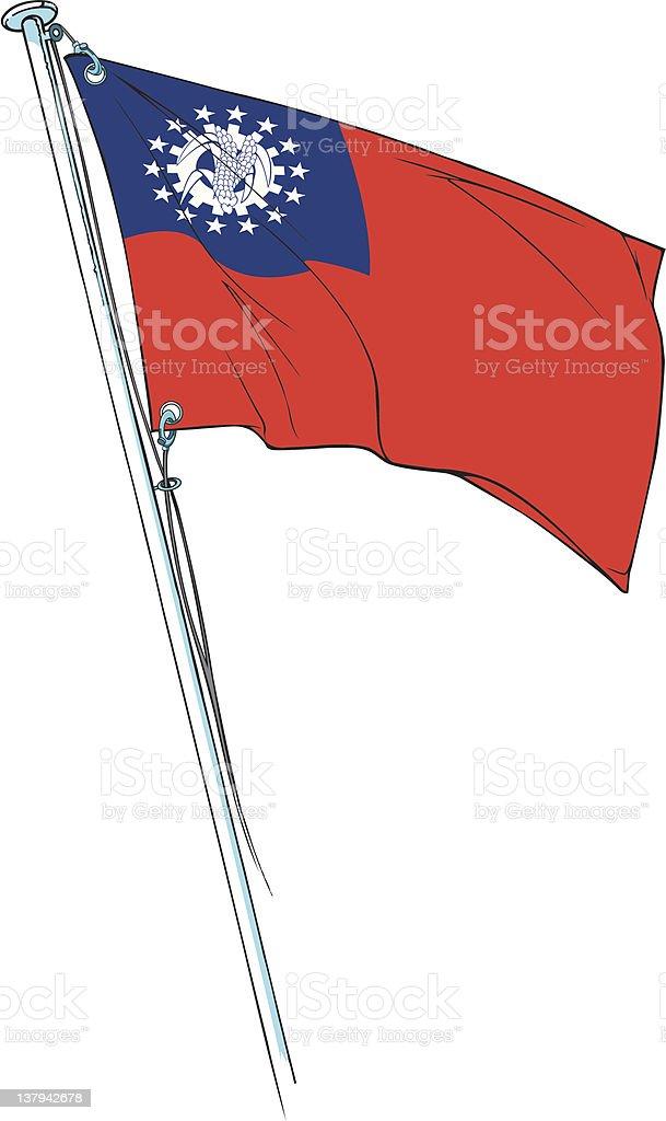myanmar revolutionary flag royalty-free stock vector art