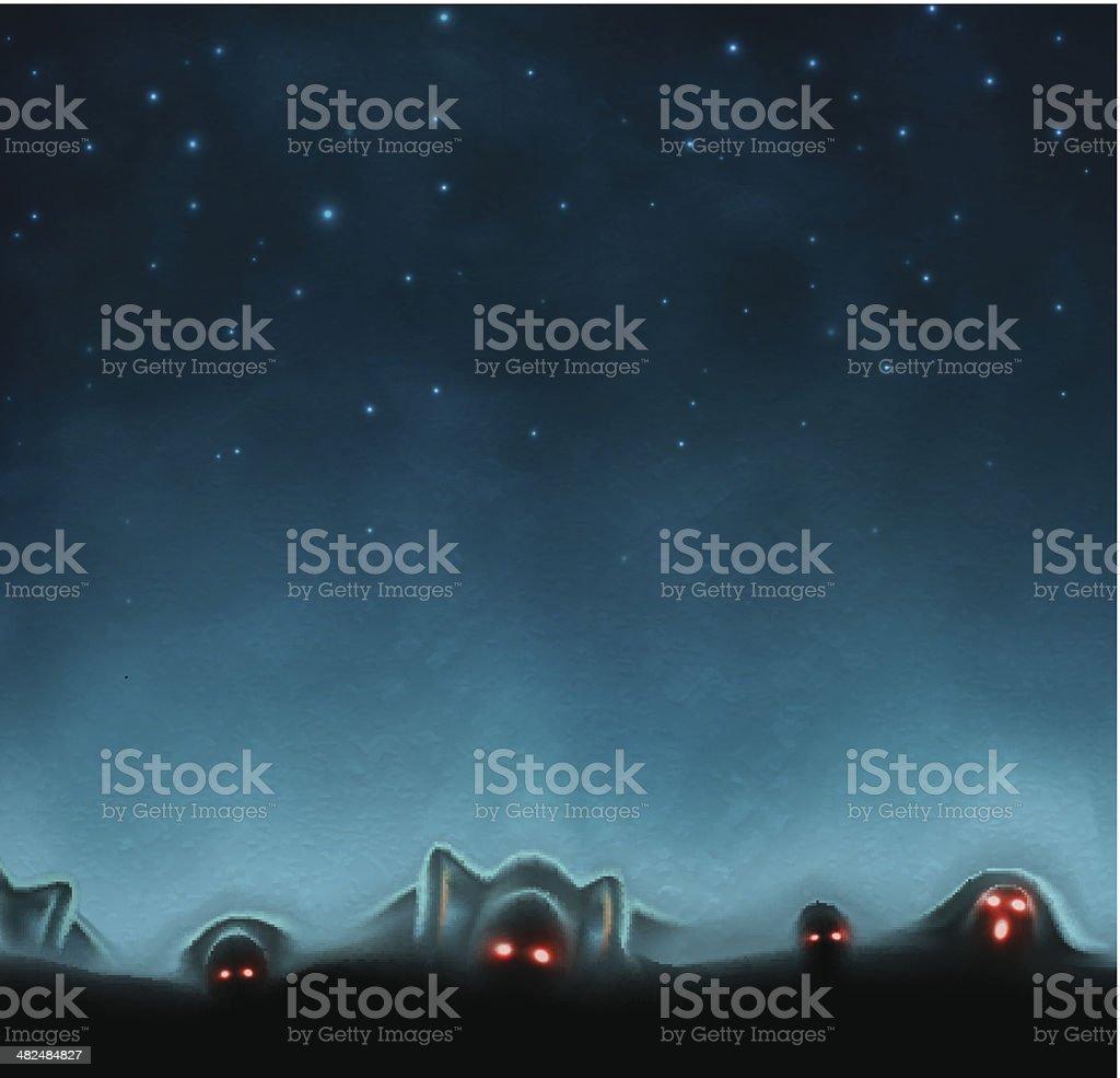 Mystical background vector art illustration