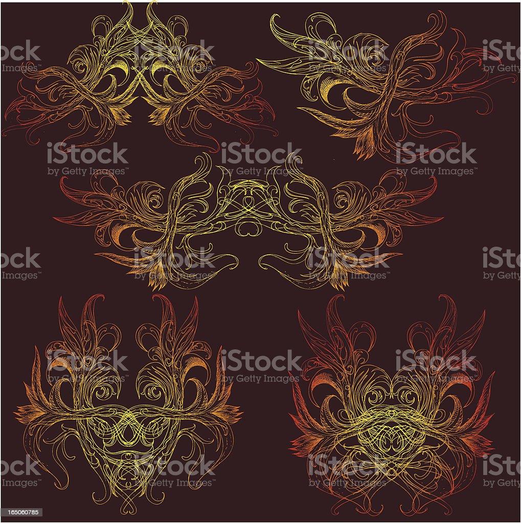 mystical beings vector art illustration