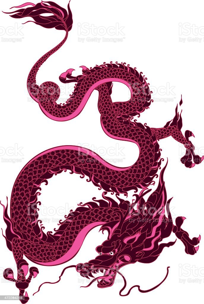 Mystical Dragon royalty-free stock vector art