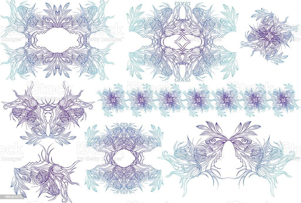 Mystische Elemente set Lizenzfreies vektor illustration