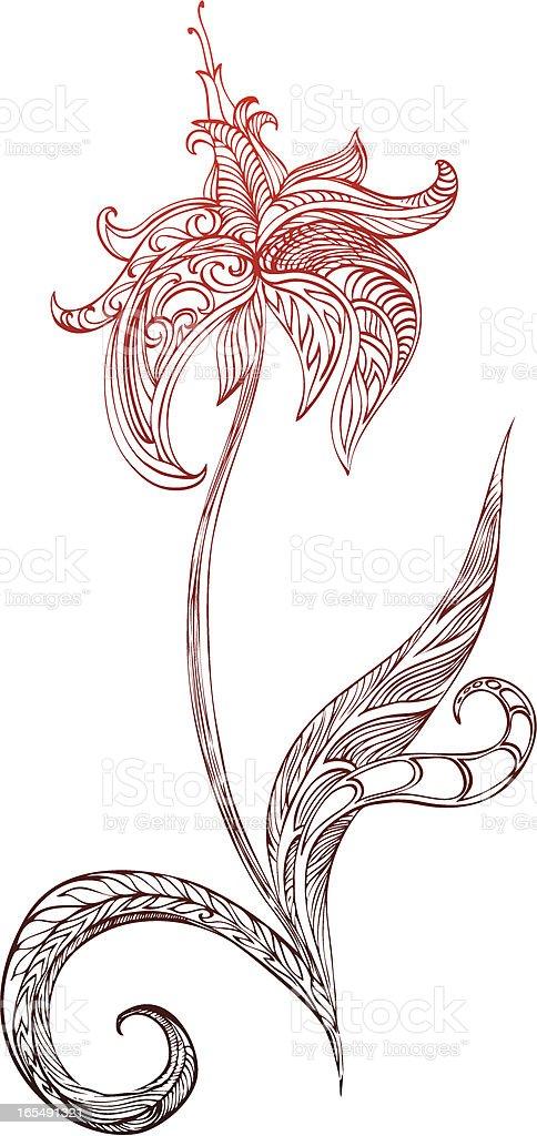 mystical flower royalty-free stock vector art