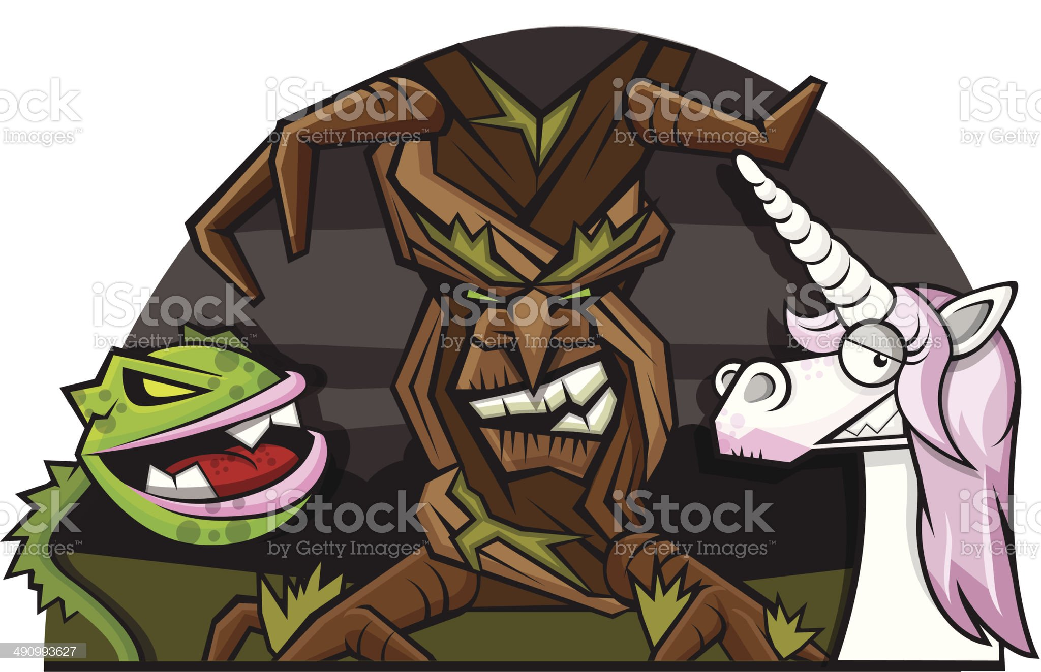 Mystical Forest royalty-free stock vector art