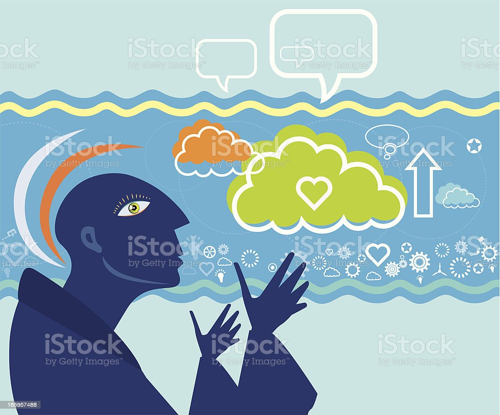 Mystical people and communication royalty-free stock vector art