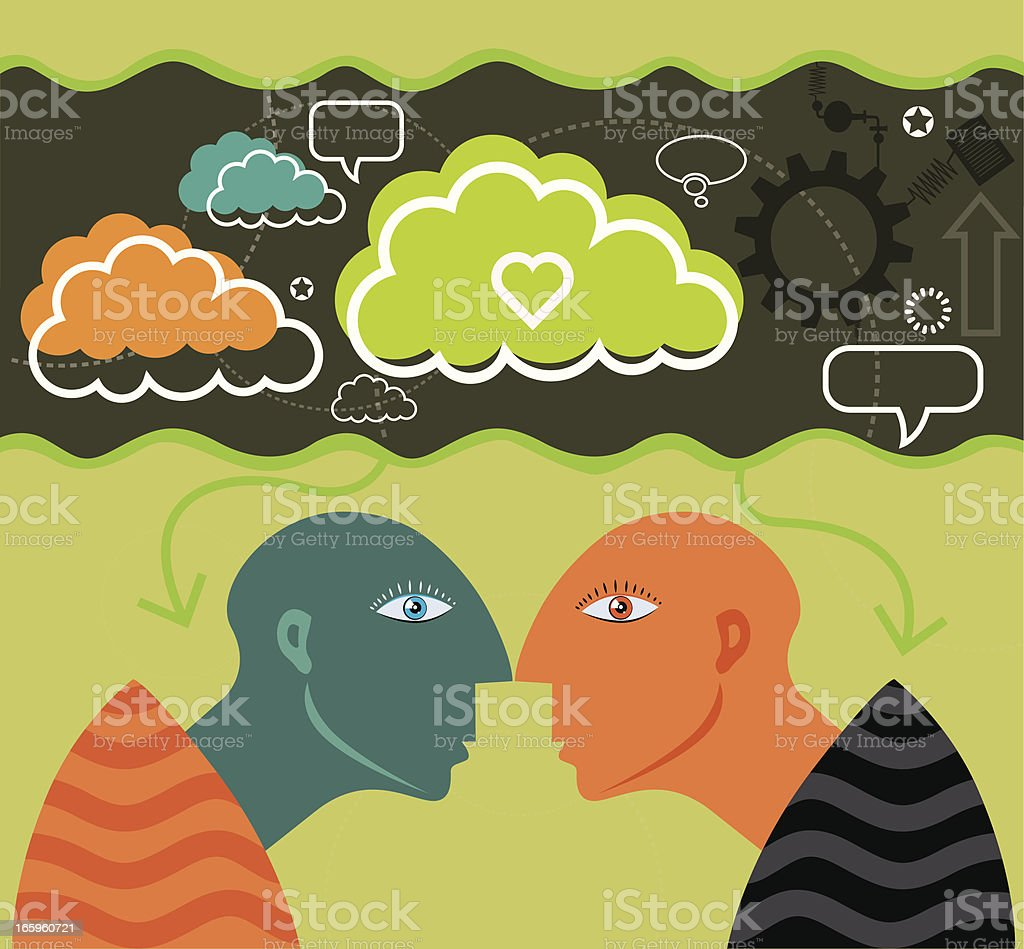 Mystical people and community vector art illustration