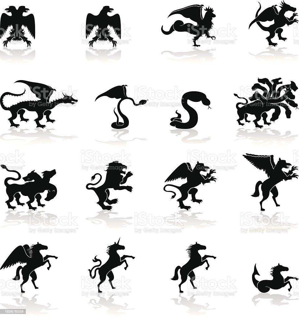 Mythological Animals royalty-free stock vector art