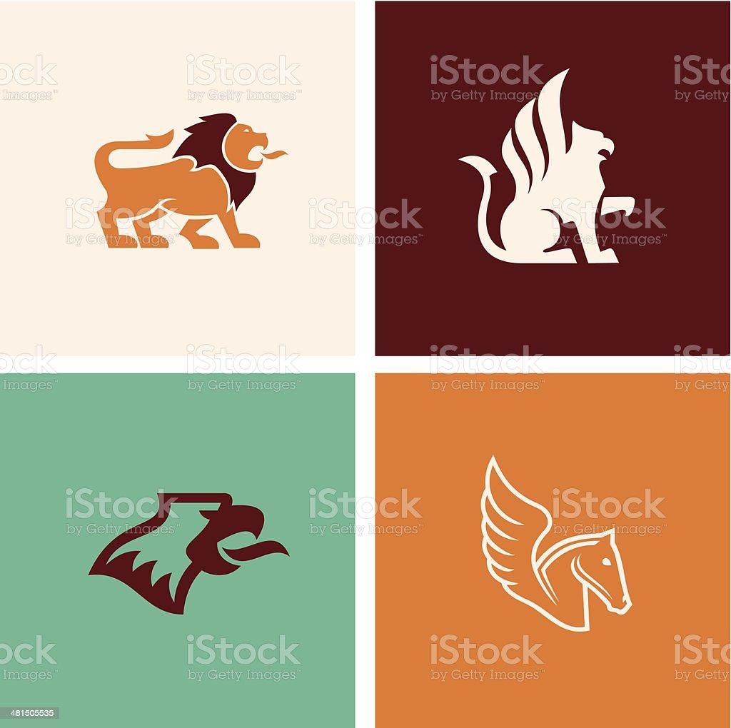 Mythology animal vector art illustration