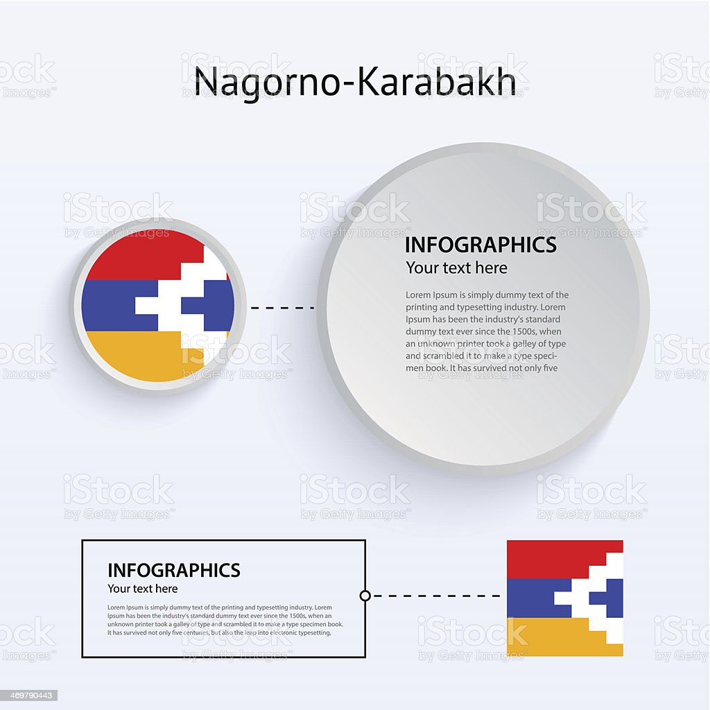 Nagorno-Karabakh Country Set of Banners. vector art illustration