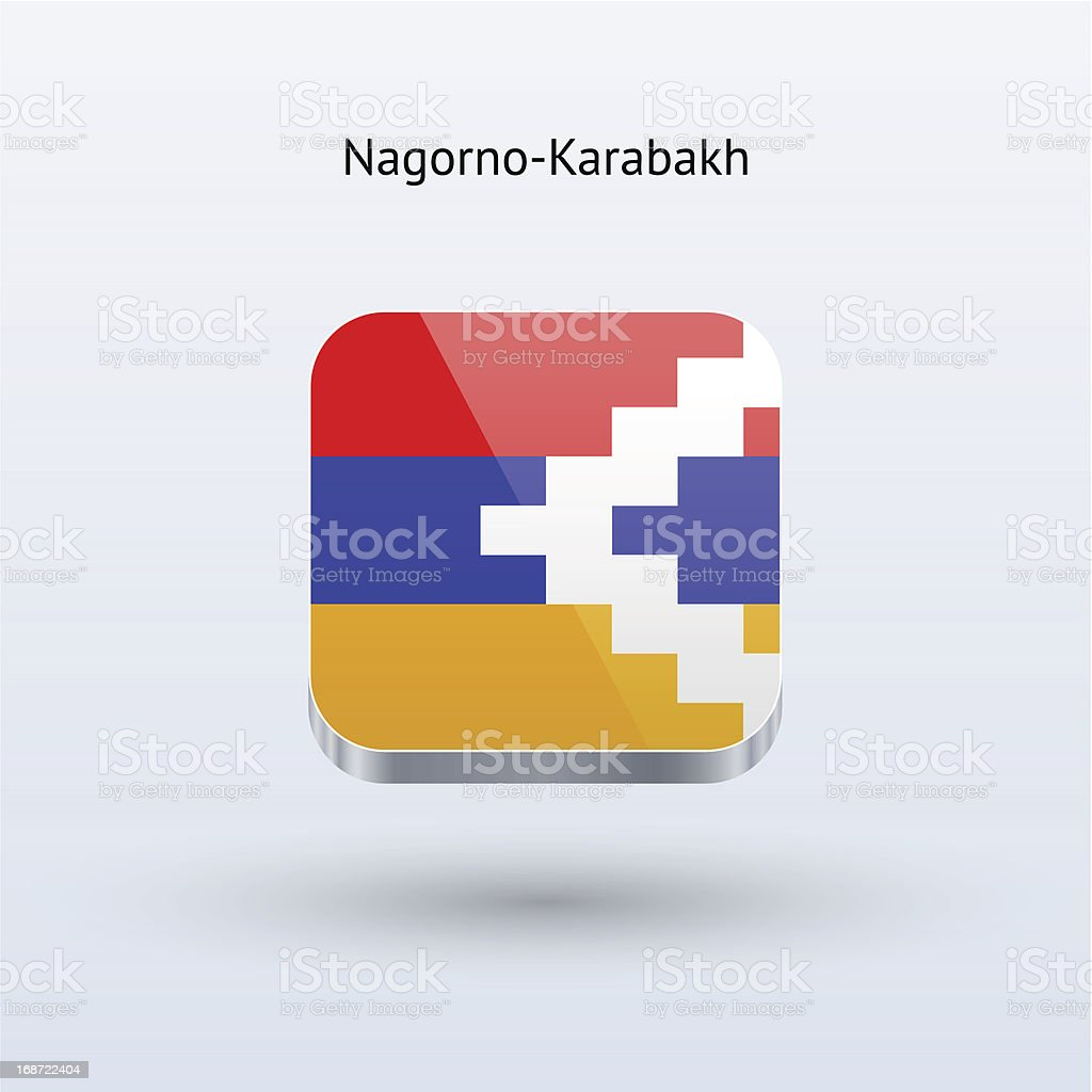 Nagorno-Karabakh Flag Icon vector art illustration