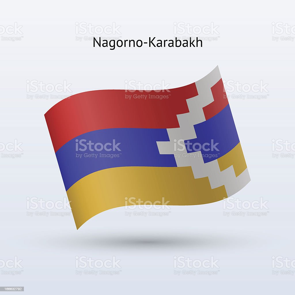 Nagorno-Karabakh Flag vector art illustration