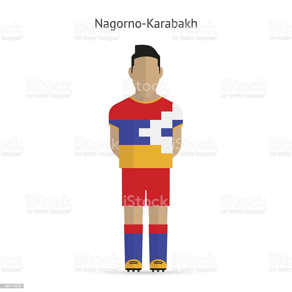 Nagorno-Karabakh football player. Soccer uniform. vector art illustration