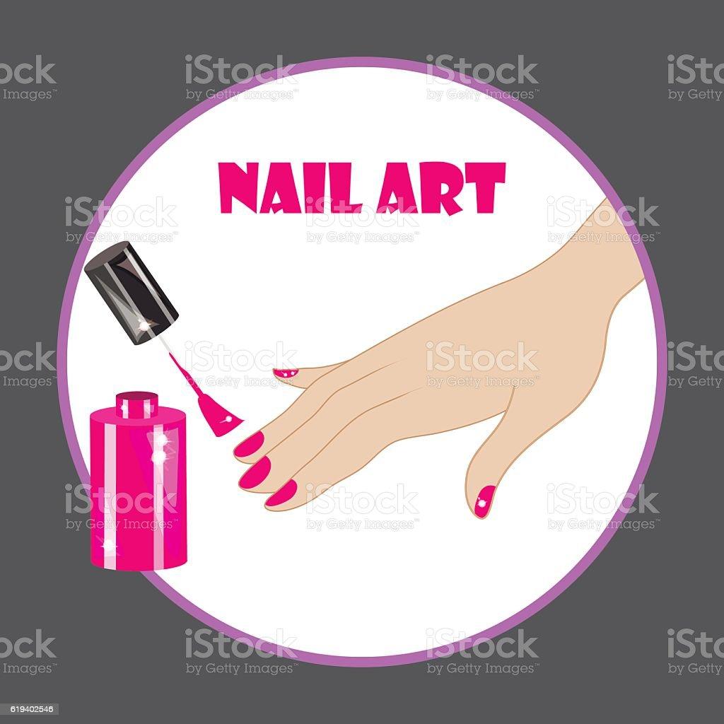 Nail Art Vector: 네일아트 일러스트 619402546