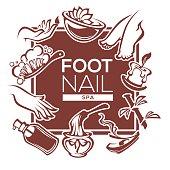 nail, foot, hand spa and care, vector  design
