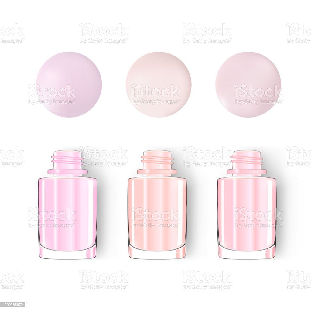 Nail polish bottle with blot isolated on white. pastel. vector. vector art illustration