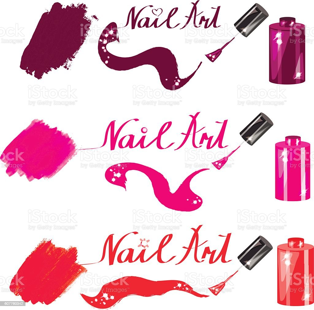 nail polish can1 vector art illustration