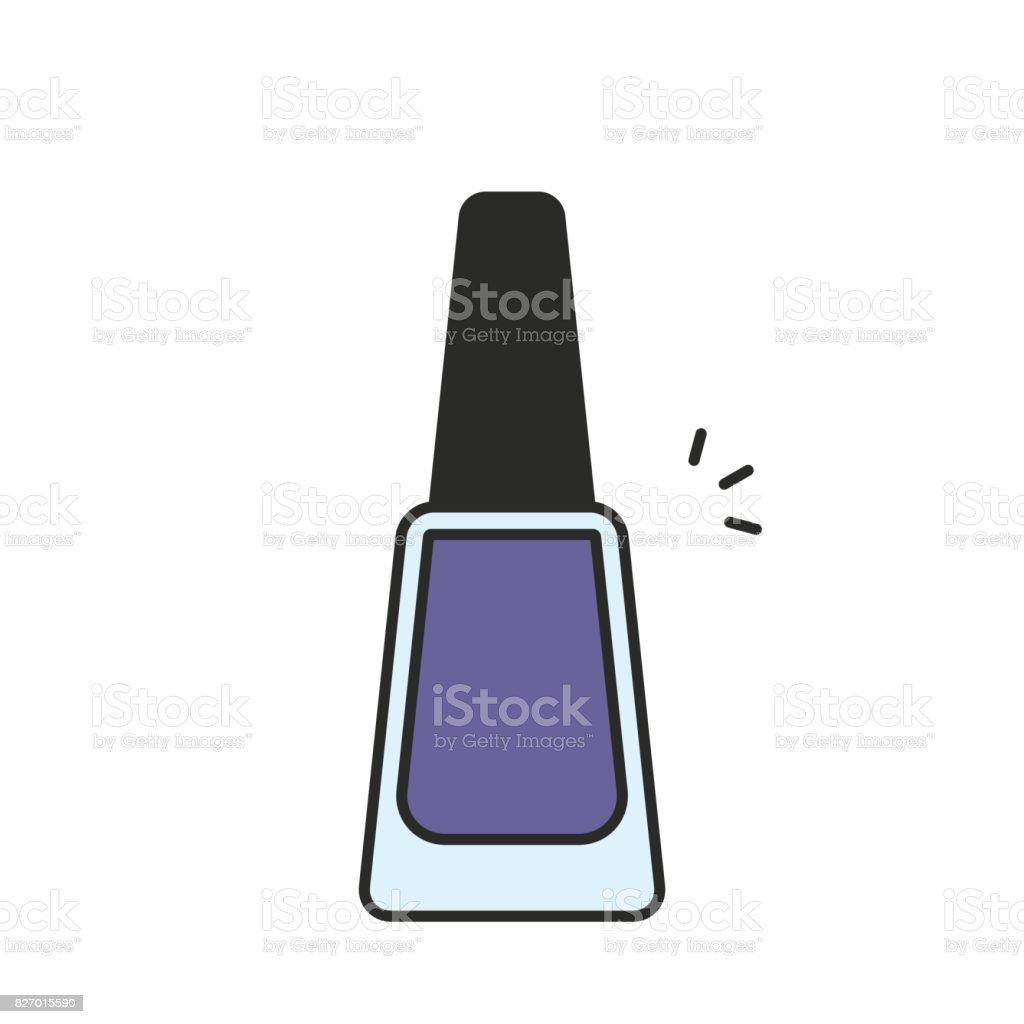 Nail polish icon vector art illustration