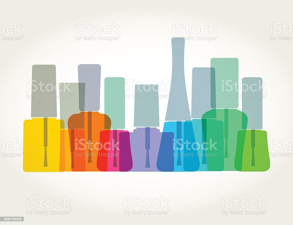 Nail Polish or Varnish vector art illustration