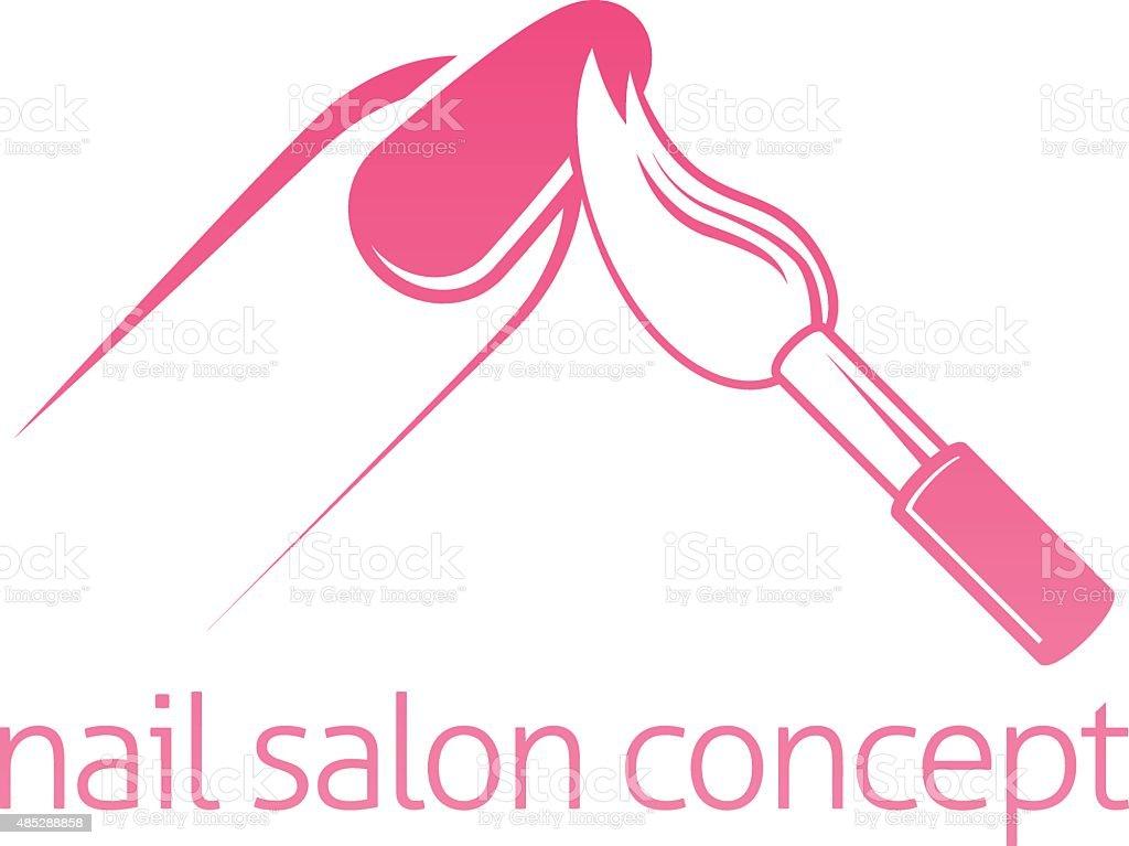 Nail Salon Concept vector art illustration