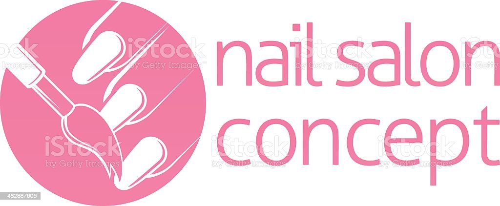 Nail Salon or Bar Concept vector art illustration