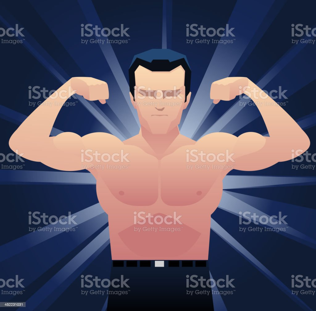 Naked Businessman Muscles royalty-free stock vector art