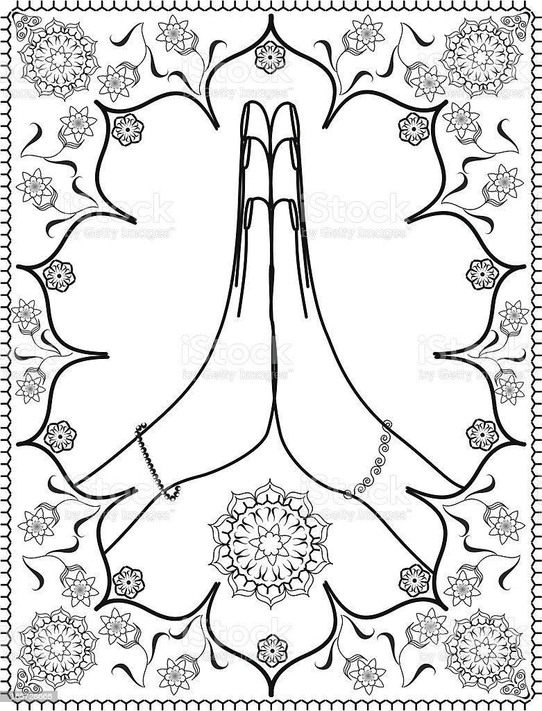 Namaste vector art illustration