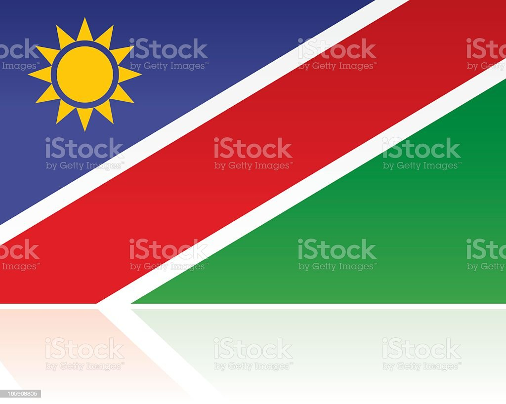 Namibia Country Flag, Southern Africa royalty-free stock vector art