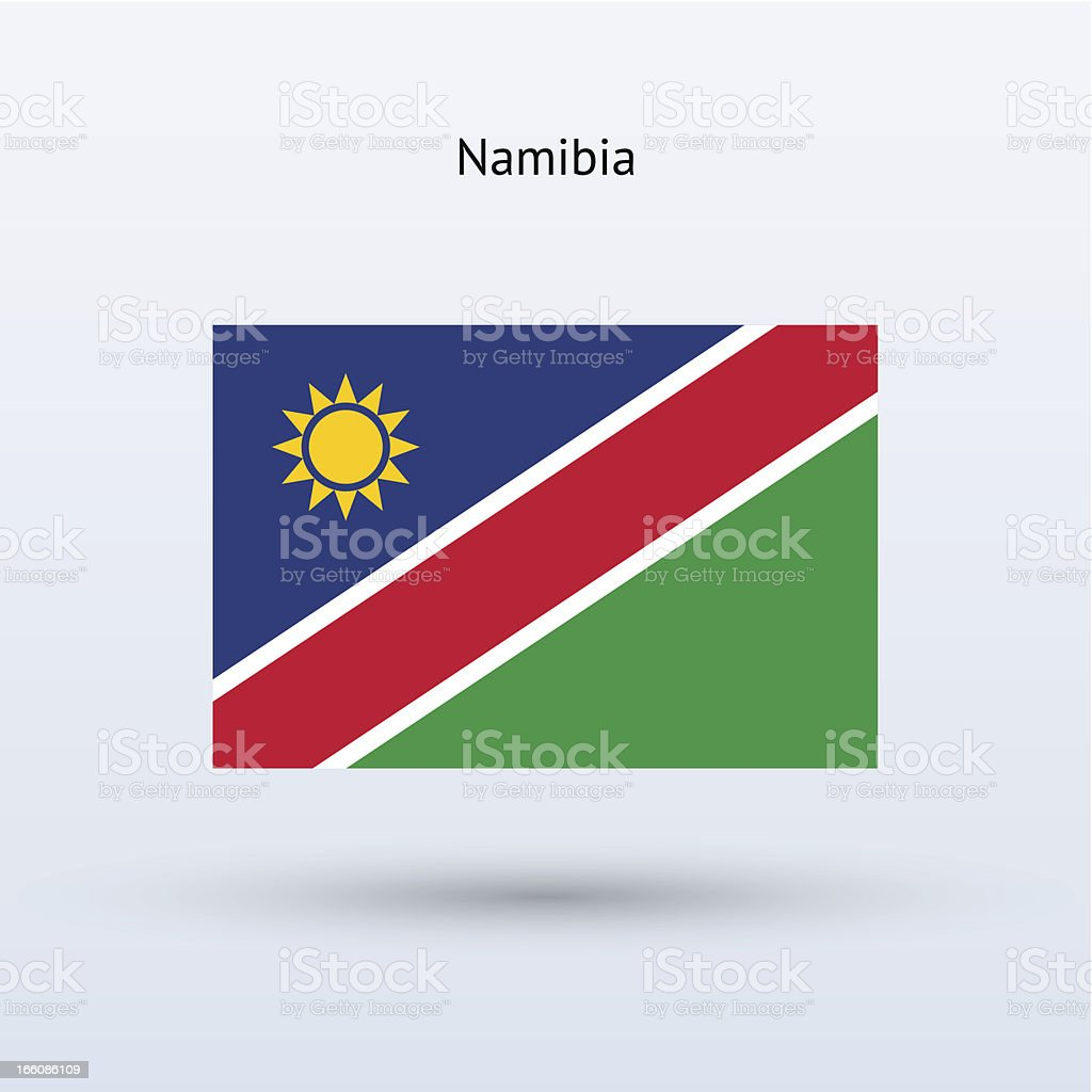 Namibia Flag royalty-free stock vector art
