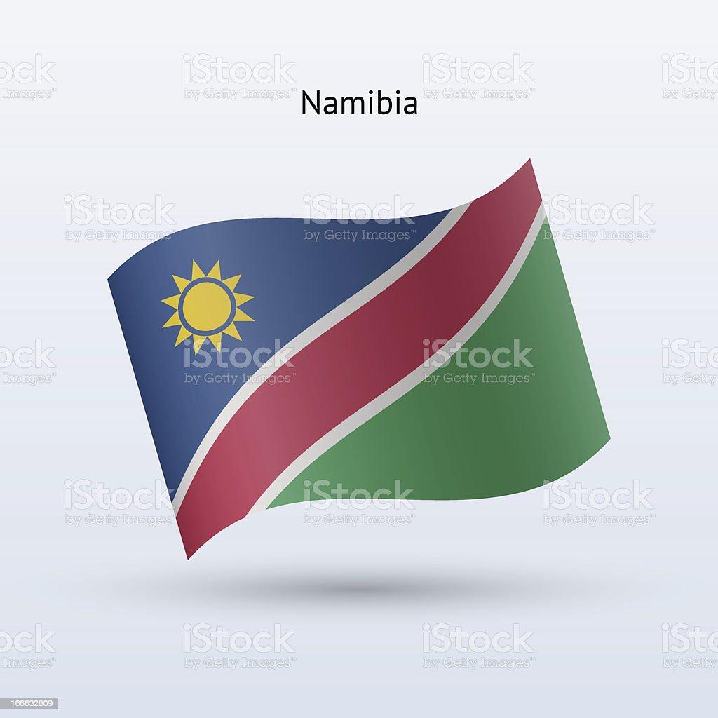 Namibia Flag royalty-free stock vector art