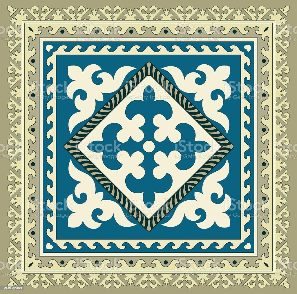Napkin of the Kyrgyz national ornament vector art illustration