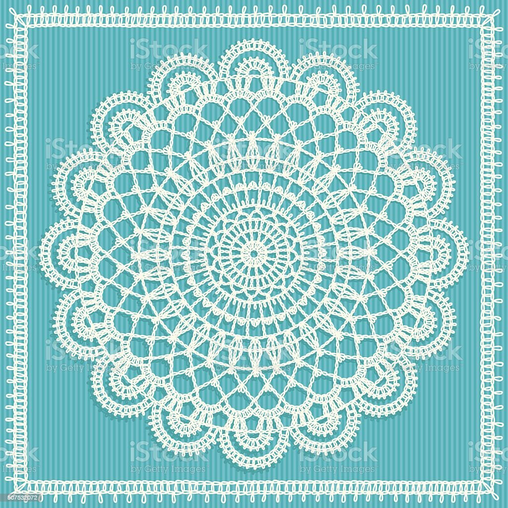 Napkins crocheted vector art illustration