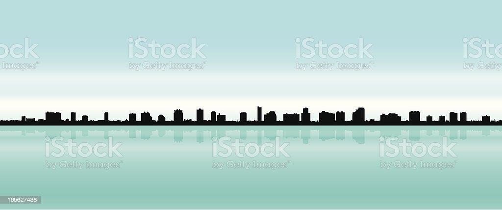 Naples, Florida Skyline royalty-free stock vector art