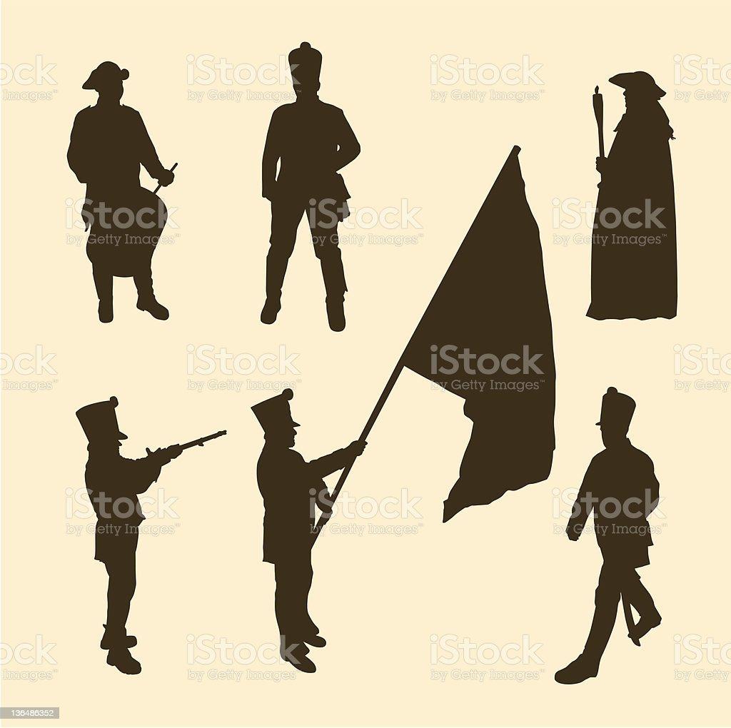 Napoleon army vector art illustration