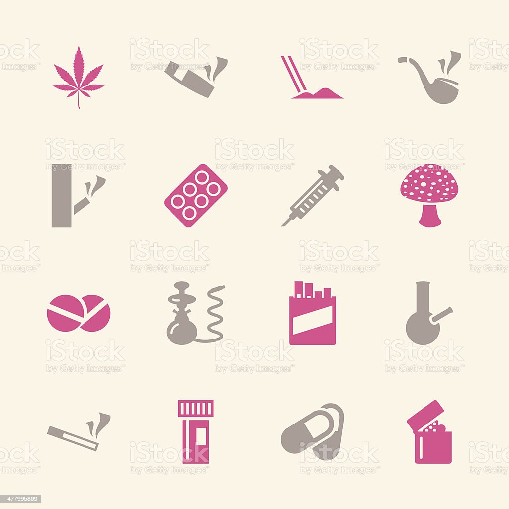 Narcotics and Drugs Icons - Color Series | EPS10 vector art illustration