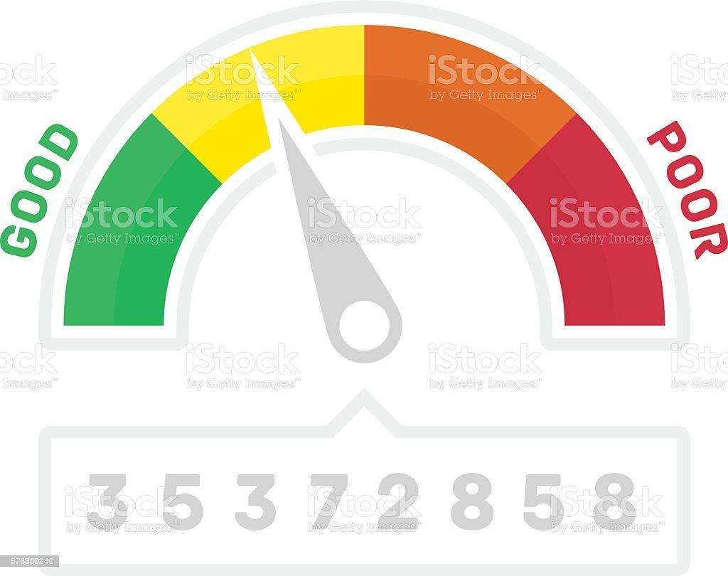 Narrower credit counter. vector art illustration