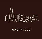 Nashville Skyline Sketch