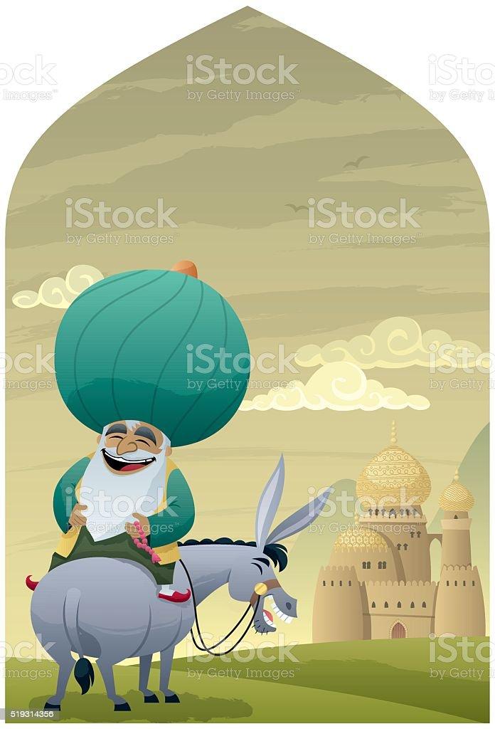 Nasreddin Hodja 2 vector art illustration
