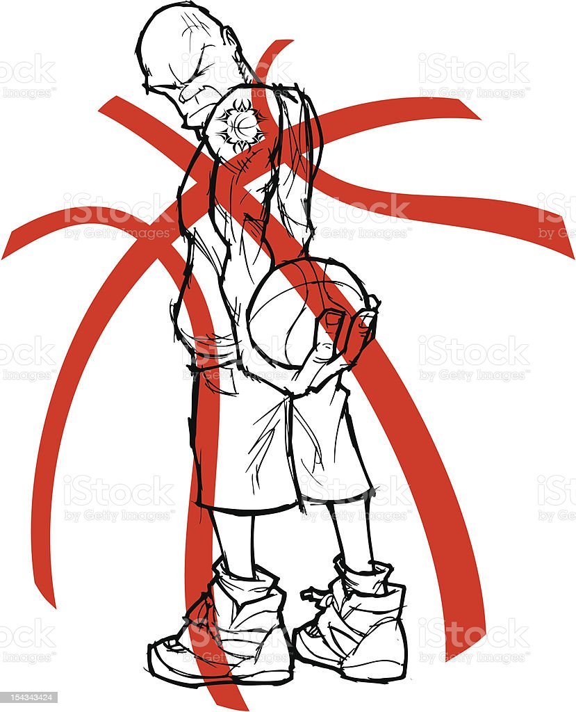 Nasty Basketball player vector art illustration