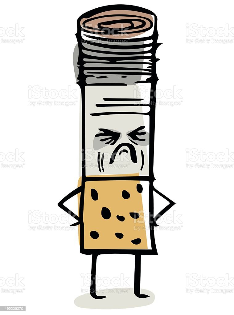 Nasty Cigarette Doodle vector art illustration